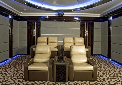 Кресла для домашнего кинотеатра серии Deco в интерьере