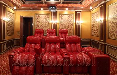 Кресла реклайнер серии Elit в частном кинотеатре