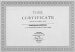Сертификат Thiel