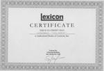 Сертификат Lexicon